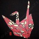 ORIGAMI CRANE New Ronin Japan TSURU T shirt M Black NWT