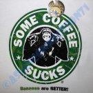 SOME COFFEE SUCKS New CISSE Chimp T-Shirt Asian M L XL