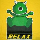 RELAX MONSTER Fun New CISSE T-Shirt Asian L Yellow BNWT