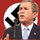 Bush INTERNATIONAL TERRORIST Anti War T-shirt L Black