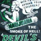 DEVIL'S HARVEST SMOKE of HELL Cool New Retro T-shirt L