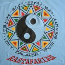 RASTAFARIAN Ying Yang Roots Rasta REGGAE T-shirt M Medium Light Blue