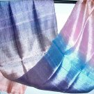 Thai Fresh and Bright Handwoven Silk Fabric Scarf 2-11