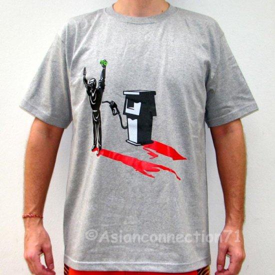 GASOLINE Oil Robbery STICK UP New REGGAE T-shirt Gray L