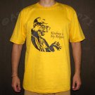 DALAI LAMA Kindness is my Religion New T Shirt M Yellow