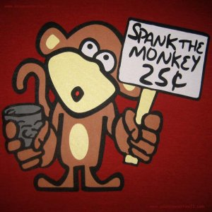 Spank the monkey animation