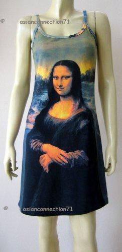 MONA LISA Leonardo Da Vinci Hand Print Art Tank Top Dress Misses Size S 4-6