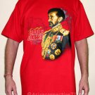 HAILE SELASSIE Roots Rasta Dub REGGAE T-Shirt XXL RED