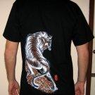 TORA TIGER New RONIN Japan Tattoo T-Shirt M Black BNWT