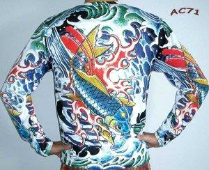 25318856 Japan MAGIC KOI New Tattoo IREZUMI Shirt LONG SLEEVE Unisex S