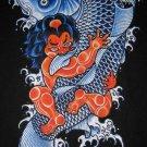 RED ONI and KOI Ronin Japan Tokyo Yakuza Ganster T-Shirt L Large Black