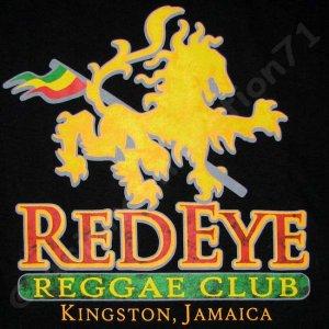 RED EYE REGGAE CLUB KINGSTON JAMAICA T-shirt M Black