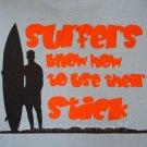 SURF STICK Priere Hawaii Surfing T-shirt M Medium Blue