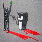 GASOLINE Oil Baron OPEC Robber STICK UP REGGAE T-shirt Gray XL
