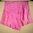 Thai Silk Fabric Scarf Shawl Hand Craft Large PINK Textile Direct from Thailand