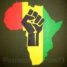 AFRICA POWER Roots Rasta REGGAE T-Shirt XL Green