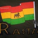 RASTA Lion of Judah FLAG New REGGAE T-shirt L Dk Green