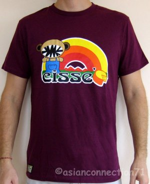 RAINBOW CHEDDAR Cheesey CISSE T-Shirt Asian L Purple Disco Party Rave