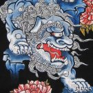 SHISA LION Okinawa Japan RONIN Yakuza T-shirt L Black BNWT