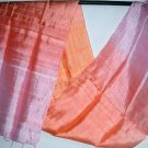 Thai Silk Fabric Scarf New Hand Crafted ORANGE and PINK 9-8