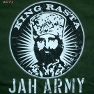 Reggae T-Shirt KING RASTA JAH ARMY Roots S Small Dark Green