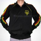 ROOTS New Rasta Pinstripe Retro REGGAE Track Jacket L