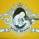 DEVIL HUNTER Pope CAP SLEEVE CISSE T-Shirt Misses S Yellow NWT