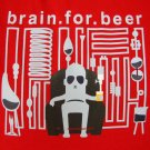 BRAIN FOR BEER Drunkard CISSE T-Shirt Asian XL RED Cheers