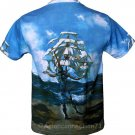 THE SHIP Fine Art Hand Print SALVADOR DALI T Shirt Men's Size L Large
