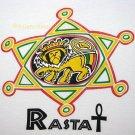 RASTA LION of JUDAH New Roots REGGAE T-shirt XXL White