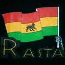 RASTA FLAG New Judah Lion Roots REGGAE T-Shirt M Black