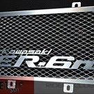 Heavy Duty Aluminum Logo Motorcycle Radiator Guard for Kawasaki ER6n 09 10 11
