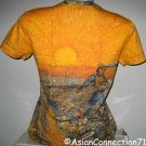 Van Gogh SEMINATORE COL SOLE Fine Art Print T Shirt Misses Cap Sleeve M Medium