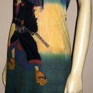 KABUKI New Japanese Ukiyoe Art Print Tank Top Dress L