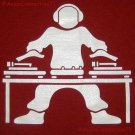 GLOW IN THE DARK DJ Turntable Party T-Shirt M Red New!
