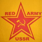 RED ARMY USSR Cool Soviet Retro T-shirt XL Yellow NWOT Clearance Sale Free Ship