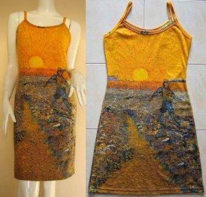 Van Gogh SEMINATORE COL SOLE Art Print Dress Misses Size L 12-14
