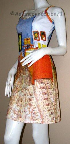 Van Gogh BEDROOM in ARLES Art Print Dress L Large 12-14