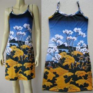 FUGAKU Sanjurokkei New Hokusai UKIYOE Japan Art Print Dress XL 16-18