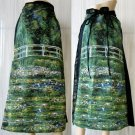 Monet WATER LILY POND New Hand Printed Art Wrap Skirt Freesize S-XL