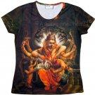 NARASIMHA VISHNU Hindu Art Print T Shirt Misses Size M Medium Short Sleeve