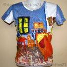VAN GOGH ARLES BEDROOM Fine Art Print Cap Sleeve T Shirt Misses Size XL