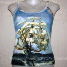 THe SHIP Salvador Dali Fine Art Print Shirt Singlet TANK TOP Misses Size L Large