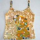 Gustav Klimt THE EMBRACE Art Print Shirt Singlet TANK TOP Misses Size L Large