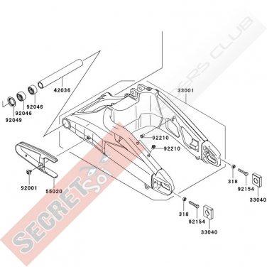 Kawasaki 55020-0234 CHAIN GUARD Versys KLE650 2009-2014 Genuine OEM Part