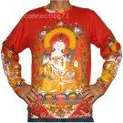 GUANIM Goddess of Mercy LONG SLEEVE Hindu Buddha PN T Shirt MENS M Medium
