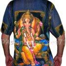 LORD GANESH Hindu Ganapati God Fine Art Hand Print T Shirt MEN'S M Medium