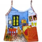 VAN GOGH Fine Art Print ARLES BEDROOM Shirt Singlet TANK TOP Misses Size S Small