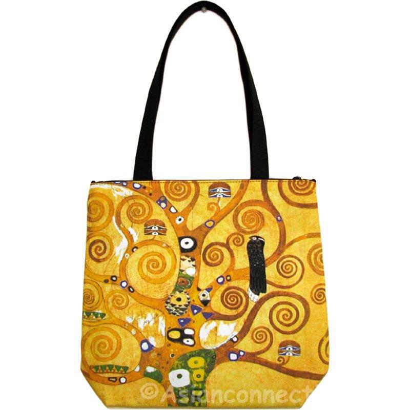 Tote bag canvas, Gustav Klimt, The Maiden, shopping bag