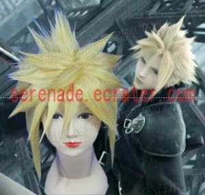 Final Fantasy Cloud Strife yellow cosplay wig